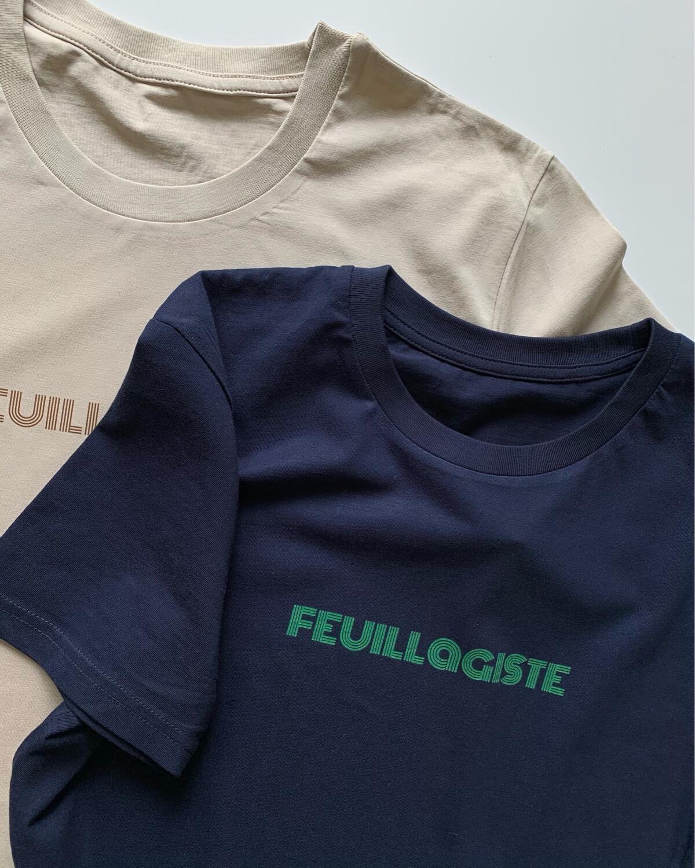 "Organic Cotton Print T-shirt ""Lucie & Luc / FEUILLAGISTE"" / Unisex"