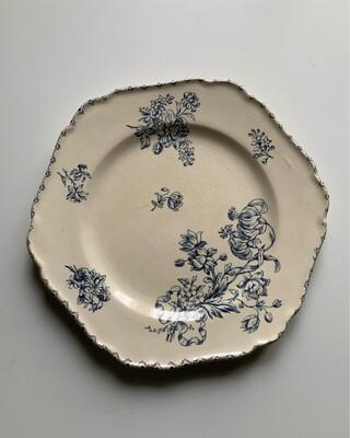 Antique / Faïencerie Salins 花柄六角皿