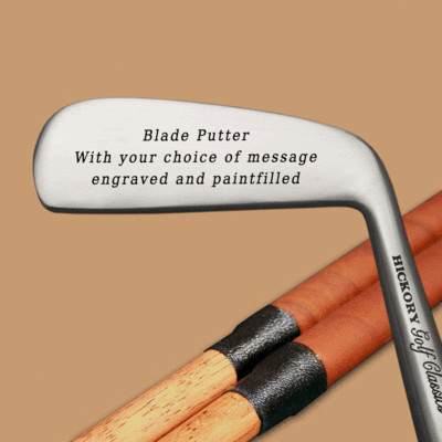 Engraved Hickory Golf Classics Blade Putter