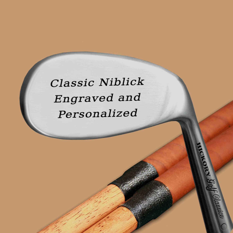 Engraved Hickory Golf Classics Niblick