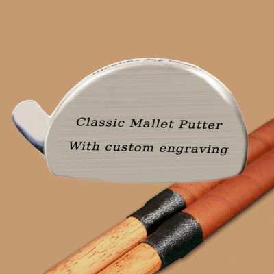 Engraved Hickory Golf Classics Mallet Putter