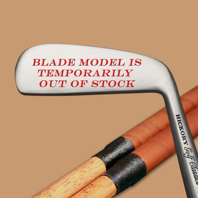 Engraved Hickory Golf Classics Blade Putter