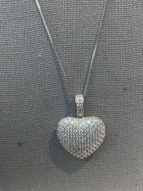 Medium Bubble Heart Necklace
