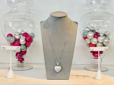 Big Bubble Heart Necklace