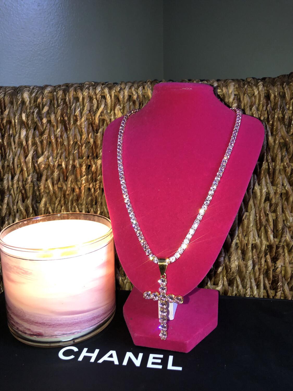 Big Cross Tennis Necklace