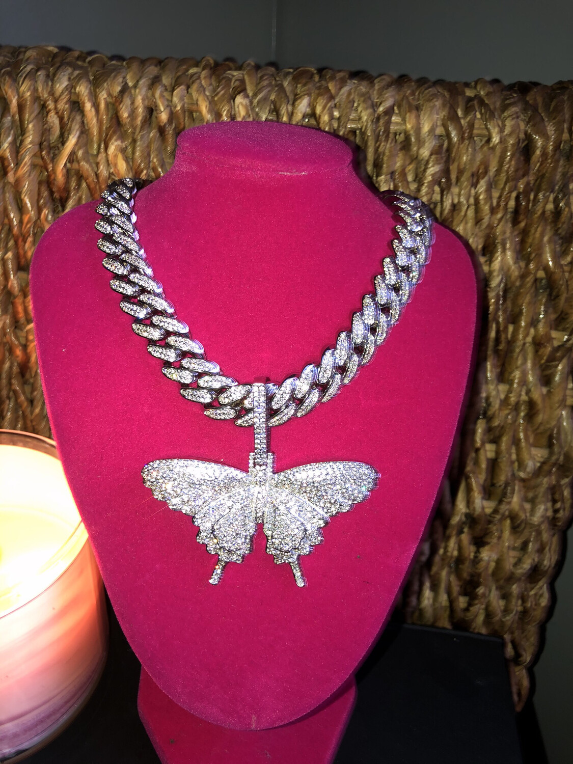 Cuban Link Big Butterfly Necklace