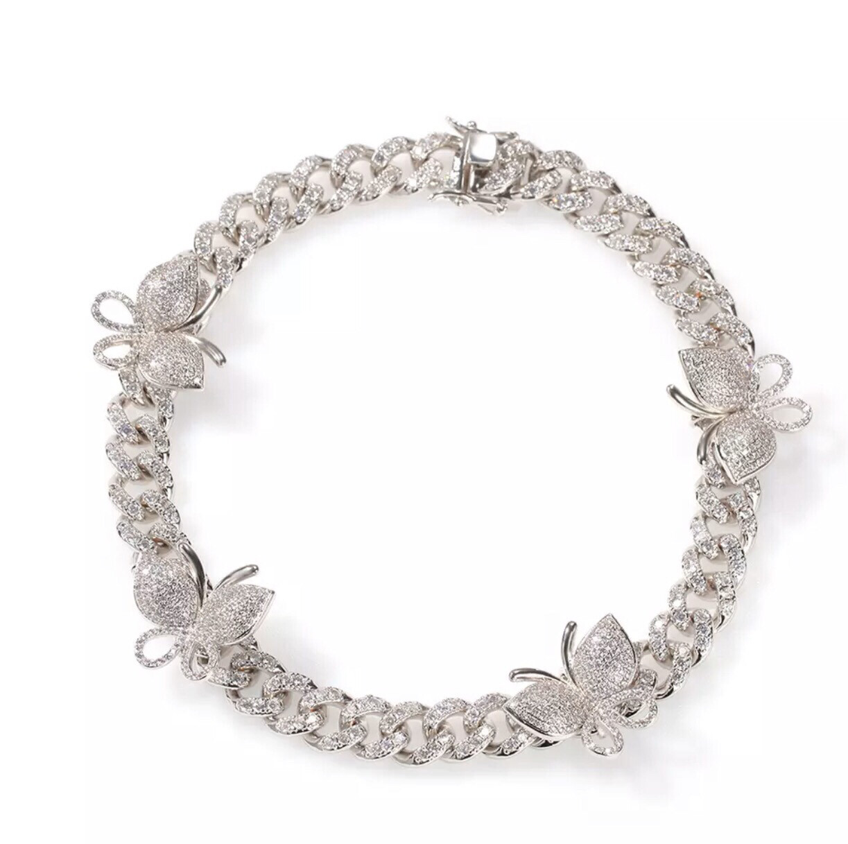 Cuban Link Mini Butterfly Necklace