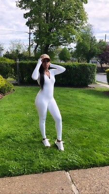 White Long Sleeve One Piece