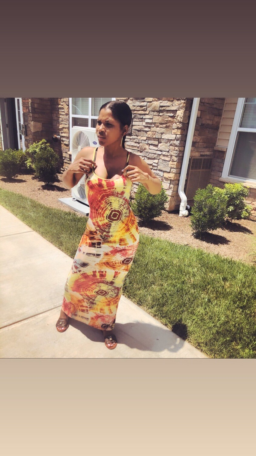 Summertime Swirl Tie Dye Midi Dress