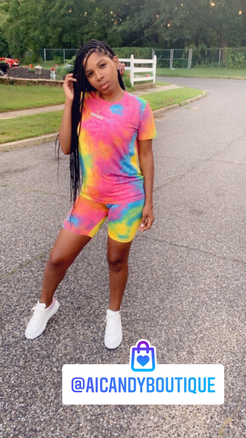 2 Piece Splash Tie Dye Set
