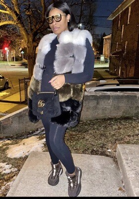 Sleeveless Vegan Fur Vest (Preorder)