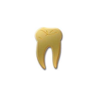 Значок «Зуб» золотой