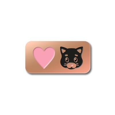 Значок «Love Cat» в розовом золоте