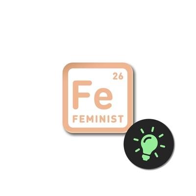 Значок «Feminist» светящийся в темноте