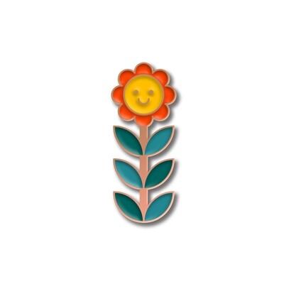 Значок «Ромашка» в розовом золоте