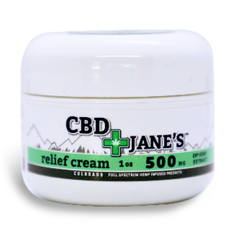 1oz CBD Relief Cream   500mg CBDHEMP Extract