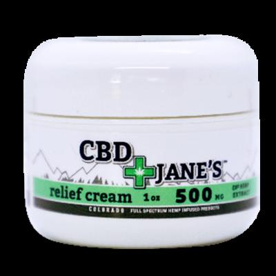 1oz CBD Relief Cream | 500mg CBDHEMP Extract