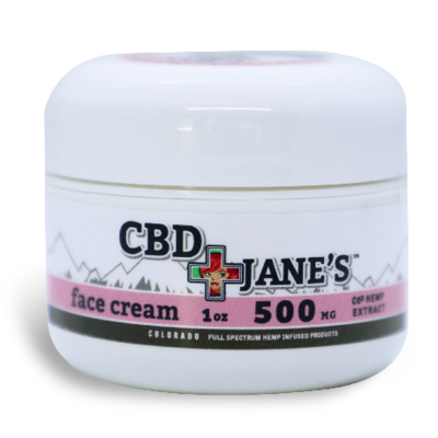 1oz CBD Face Cream | 500mg CBDHEMP Extract
