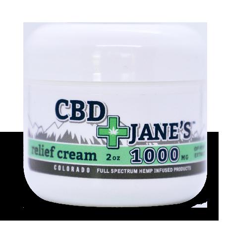 2oz CBD Relief Cream | 1000mg CBDHEMP Extract