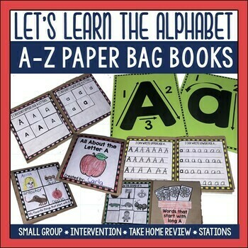 Alphabet A to Z Paper Bag Books