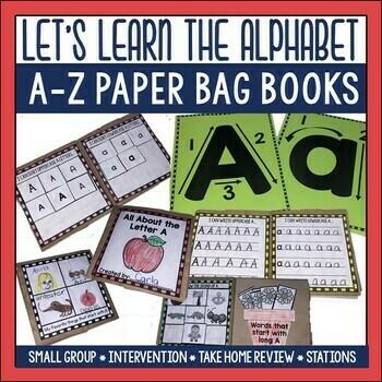 Alphabet A to Z Paper Bag Books