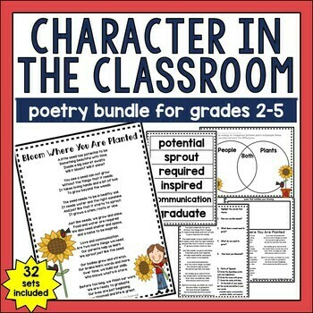 Character in the Classroom Poetry Bundle