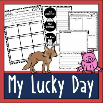 My Lucky Day by Keiko Kasza Activities