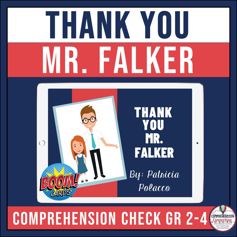 Thank You Mr. Falker Boom Card Activities