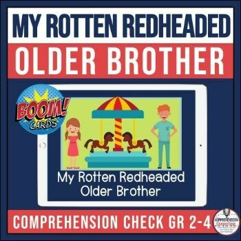 My Rotten Redheaded Older Brother Boom Card Activities