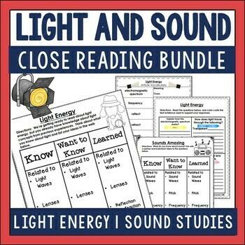 Light and Sound Close Reading Set