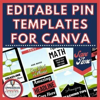Editable Pin Templates for Canva