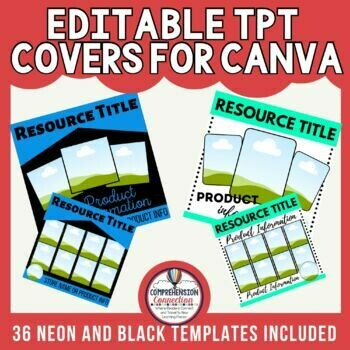 Square Canva Templates for Resource Covers and Social Media