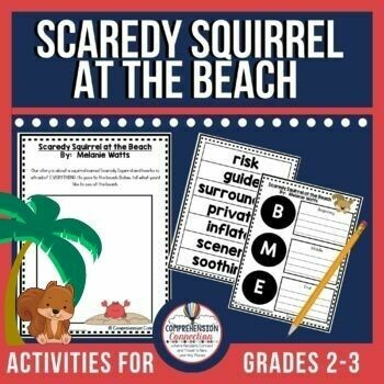 Scaredy Squirrel at the Beach Book Activities