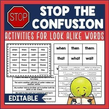 Fluency Activities for Look Alike Words