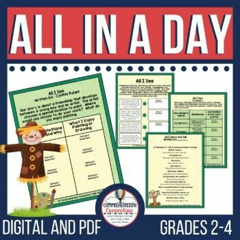 All in a Day by Cynthia Rylant Book Activities
