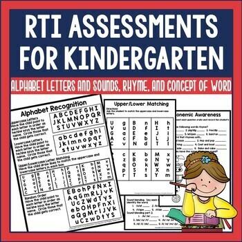 RTI Assessments for Kindergarten
