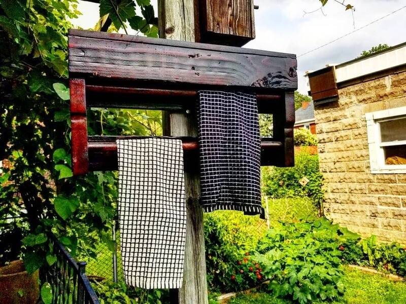 Reclaimed Pallet Towel Rack