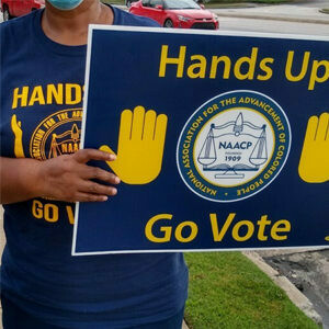 NAACP DeKalb Hands Up Go Vote Shirt