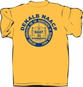 NAACP DeKalb Gold T-Shirt