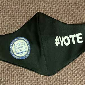 NAACP logo-#VOTE Face Mask