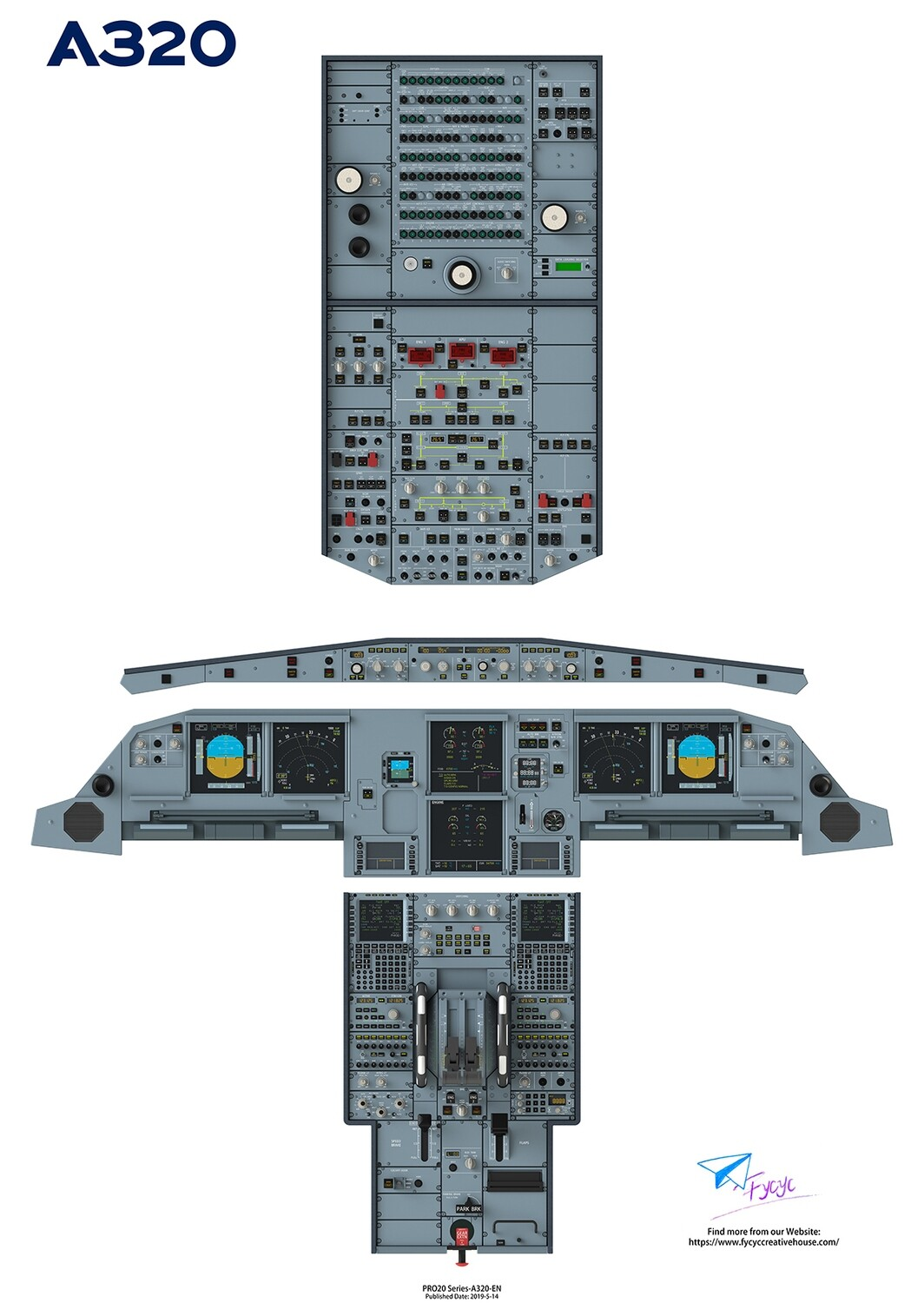 Airbus 320 Cockpit Poster