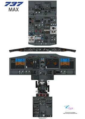 B737MAX Cockpit Poster