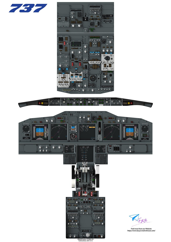 B737NG Cockpit Poster