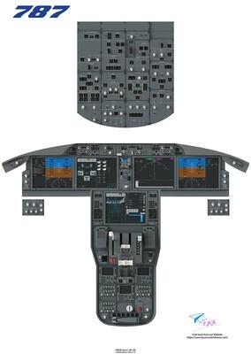 B787 Cockpit Poster