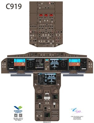 C919 Cockpit Poster