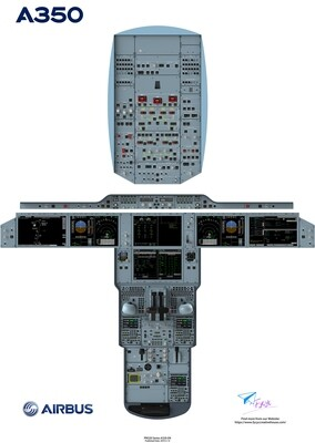 Airbus 350 Cockpit Poster