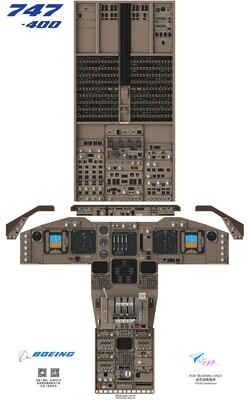 B747-400 Cockpit Poster
