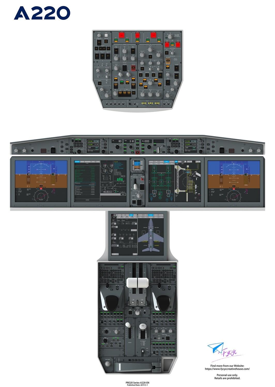 Airbus220/CS100 Digital Cockpit