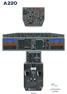 Airbus220/CS100 Cockpit Poster