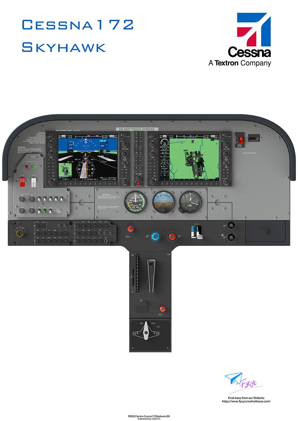 Cessna172-Skyhawk(G1000)-Digital Poster